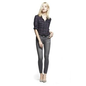 PAIGE Gray Transcend Verdugo Ultra Skinny Jeans A4